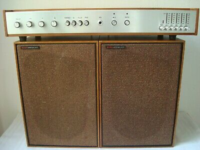 Vintage Buch Arena HI-FI TA 3500 Tuner Amplifier Radio & Speakers