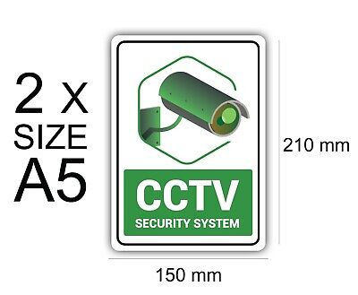 A5 Security System of 2 Self Adhesive Vinyl,Sign,Waterproof