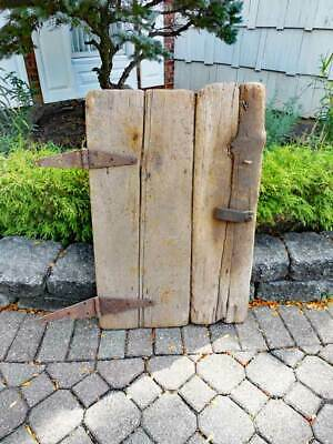 Antique ARCHITECTURAL GOAT BARN DOOR   - SALVAGE FARM COUNTRY