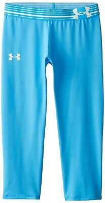 Under Armour Kids Youth Girls Jazz Blue Sugar Mint Capri Pants