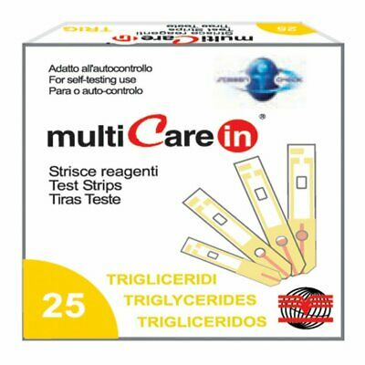 Multicare - TRIGLYCERIDES STRIPS - for code 23965/66/67 - box of 25 pcs.