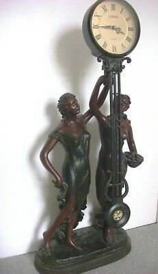 Vintage Swinging Table Clock  Figural Art Deco Style clock Large 78cm High