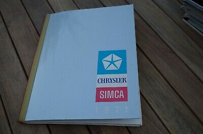Catalogue Simca 1971 1000 - 1100 - 1200 S - 1301 1501 Matra 530 Chrysler 160 180