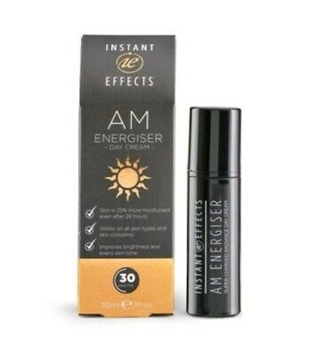 INSTANT EFFECTS AM ENERGISER Day Cream 30ML Vegan - Brand New **In High Demand**