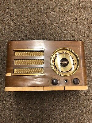 Crosley Super 6 Antique Tube Radio Brown Wood F-805 Restoration