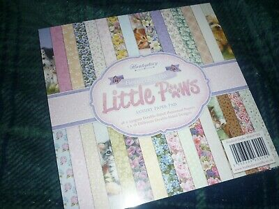 """Hunkydory 8"""" X 8"""" Double Sided Pad Return Of Little Paws 48 Pages New & Sealed"""