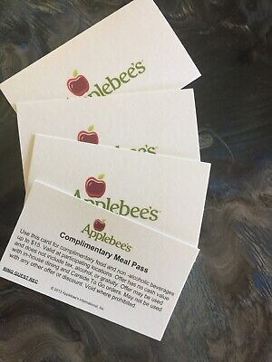 4 Applebees $15 Meal Pass Voucher Coupon, No Expiration