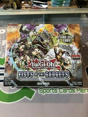 Yu-Gi-Oh FISTS OF THE GADGETS FACTORY SEALED BOOSTER BOX 1ST EDITION (24 Packs)