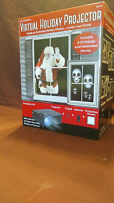 Mr Christmas Virtual Holiday/Halloween Projector 8 Movie Window Projection