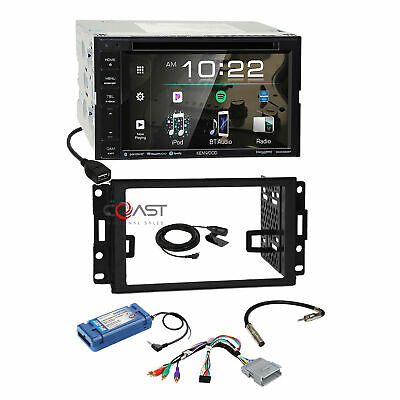 Kenwood DVD Sirius Stereo Dash Kit Amp SWC Harness for 04+ Pontiac Grand Prix