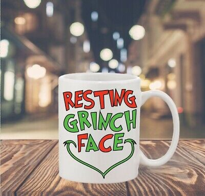 """Resting Grinch Face DIY Cup Decal 3"""" Grinch Inspired Christmas Decal"""