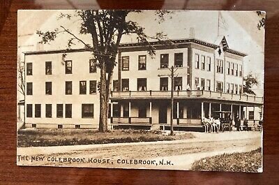 Colebrook, New Hampshire New Colebrook House Vintage Photo Postcard 1913