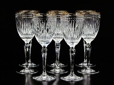 Water Goblet Hanover Gold by Waterford  Crystal, Blown Glass Crafted in Slovenia