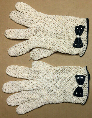 Vintage ITALIAN Ladies GLOVES Size M 1950's GOOD-VGC #8