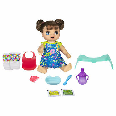 Baby Alive Happy Hungry Baby Brown Straight Hair Doll