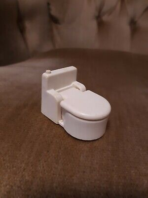 Vintage FISHER PRICE Little People WHITE BATHROOM TOILET POTTY for Play Family