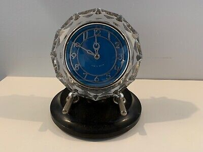 "Vintage Art Deco Bakelite ""Majak"" Blue Face 7- Day Winding Clock made in USSR"