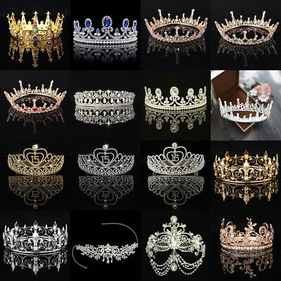 Rhinestone Wedding Crystal Tiara Hair Band Bridal Princess Prom Crown Headband