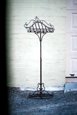 French provincial antique style music wedding book recipe stand wrought iron NEW
