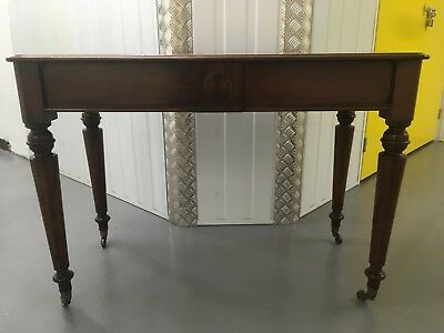 Antique mahogany console table on turned legs