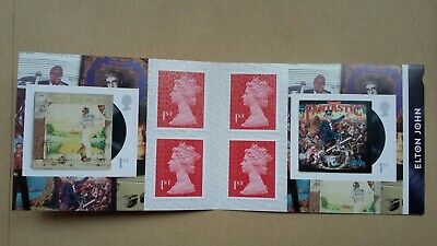Royal Mail Elton John 2019 - 6 x 1st Class stamps - Brand New Retail Booklet