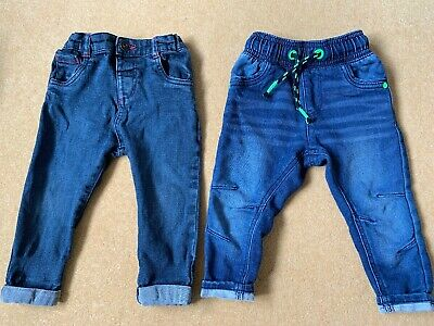 2 X Denim Jeans 12-18 Months / 1-1 1/2 Years Blue Boys M&S George Bundle