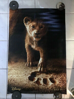 Lion King 27x40 Original Theater Double Sided Movie Poster 2019 Disney Simba