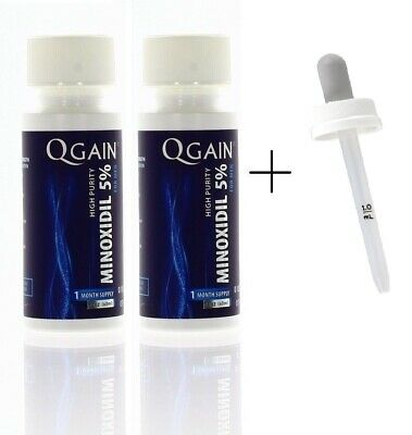 Qgain High Purity Minoxidil 5% for MEN 2 month supply
