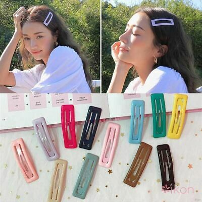 Girls Baby Kids Lovely Printing Candy Color Cartoon Side Clip BB Clips \US