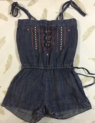 Two Belles Size 4 Girls Chambray Playsuit