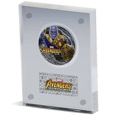 2018 Fiji $2 Marvel Avengers Infinity War Thanos 2oz Antiqued Silver Coin