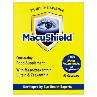 MACUSHIELD EYE SUPPLEMENT 90 SoftGel CAPSULES 3 MONTHS SUPPLY MacuHealth