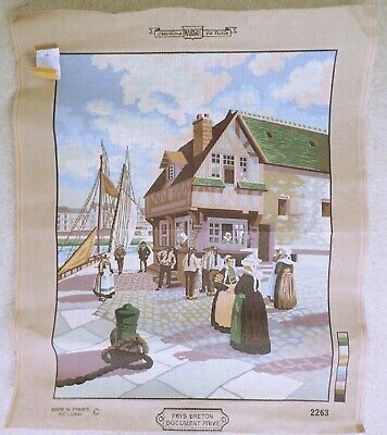 Cow and Calf Tapestry Needlepoint Canvas Royal Paris