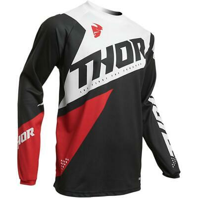 Thor Jersey Sector Blade Charcoal/Rot