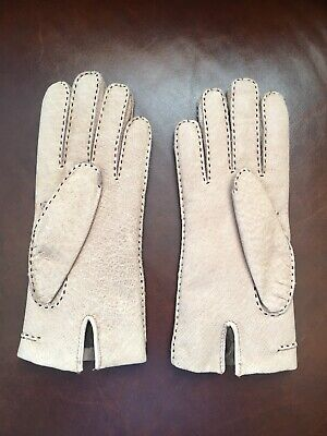 Real Leather Rabbit Lining Rabbit Fur Women's Gloves Small Made In Philippines