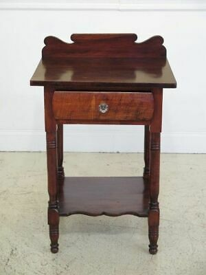 F45252EC: Antique Sheraton Style 1 Drawer Work Table Washstand