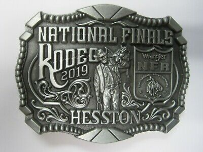 National Finals Rodeo Hesston 2019 NFR Adult Cowboy Buckle New Wrangler AGCO