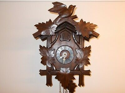 Large Vintage Cuckoo Clock...with Flapping Winged Cuckoo!