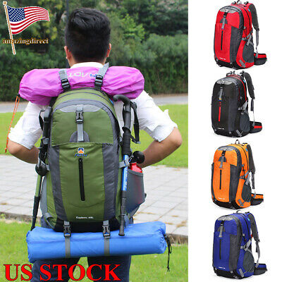 40L Water Resistant Travel Backpack Camp Hike Laptop Daypack Trekking Climb D0Z2