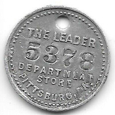 The Leader Department Store, Pittsburg, PA, Charge Coin #5378  Pittsburgh