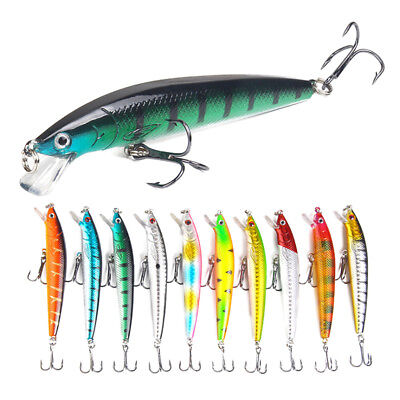 Minnow Fishing Lure 3D Eyes 10cm 7g Wobbler Bass Pike Baits Spinner Baits BF