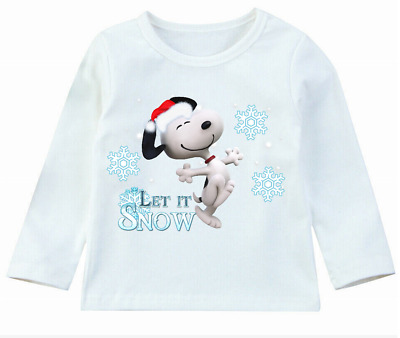 Snoopy Christmas Kids T-shirt Personalized optional 100% cotton