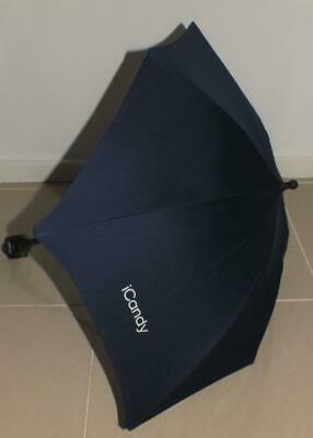 New ex display Icandy sun parasol Midnight / Royal including clip - Peach