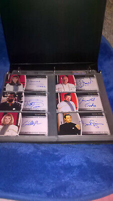 Star Trek Insurrection Auto Autograph set etc. Picard Skybox ,