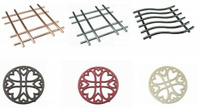 TRIVET Various Sizes & Colour Round,Square ,Cast-Iron, Copper, Chrome, Black Red