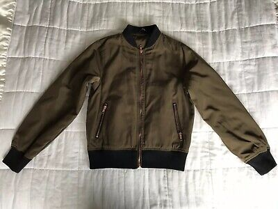 Girls Candy Couture Moss Green Brown Jacket Size 13 Years