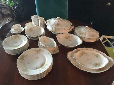 Antique Theodore Haviland Limoges China Schleiger 146-7 plates bowls soup tureen
