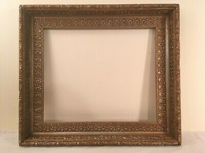 """Ornate Antique Gold Gilt Gesso Deep Picture Frame w/ 19x16"""" Opening"""