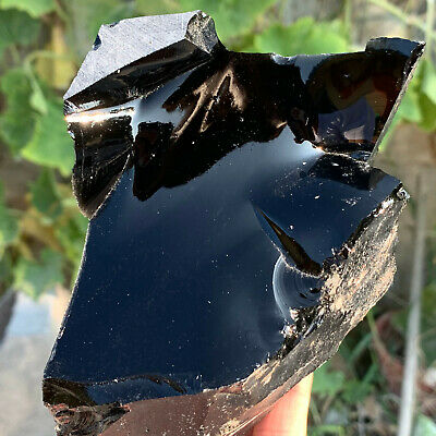 1.8LB Rough Natural Black Obsidian Tumbled Gemstone Healing Crystal Stone 240