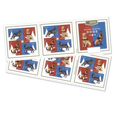 USPS Forever Postage Stamps 'Military Working Dogs' Full booklet of 20
